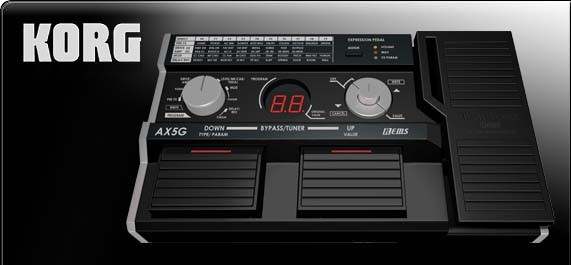 AX5G | Multieffektprozessor für E-Gitarre